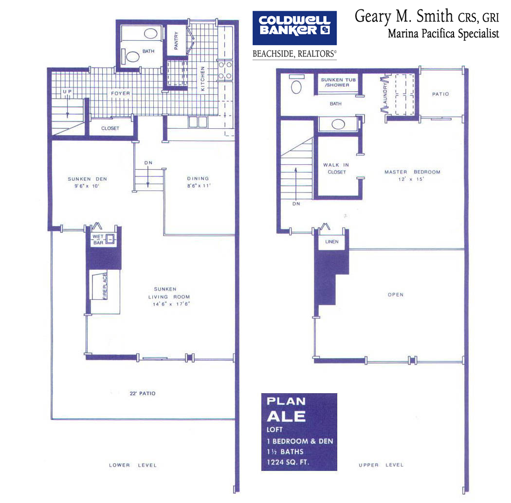 Floor plans marina pacifica for Floor plans com