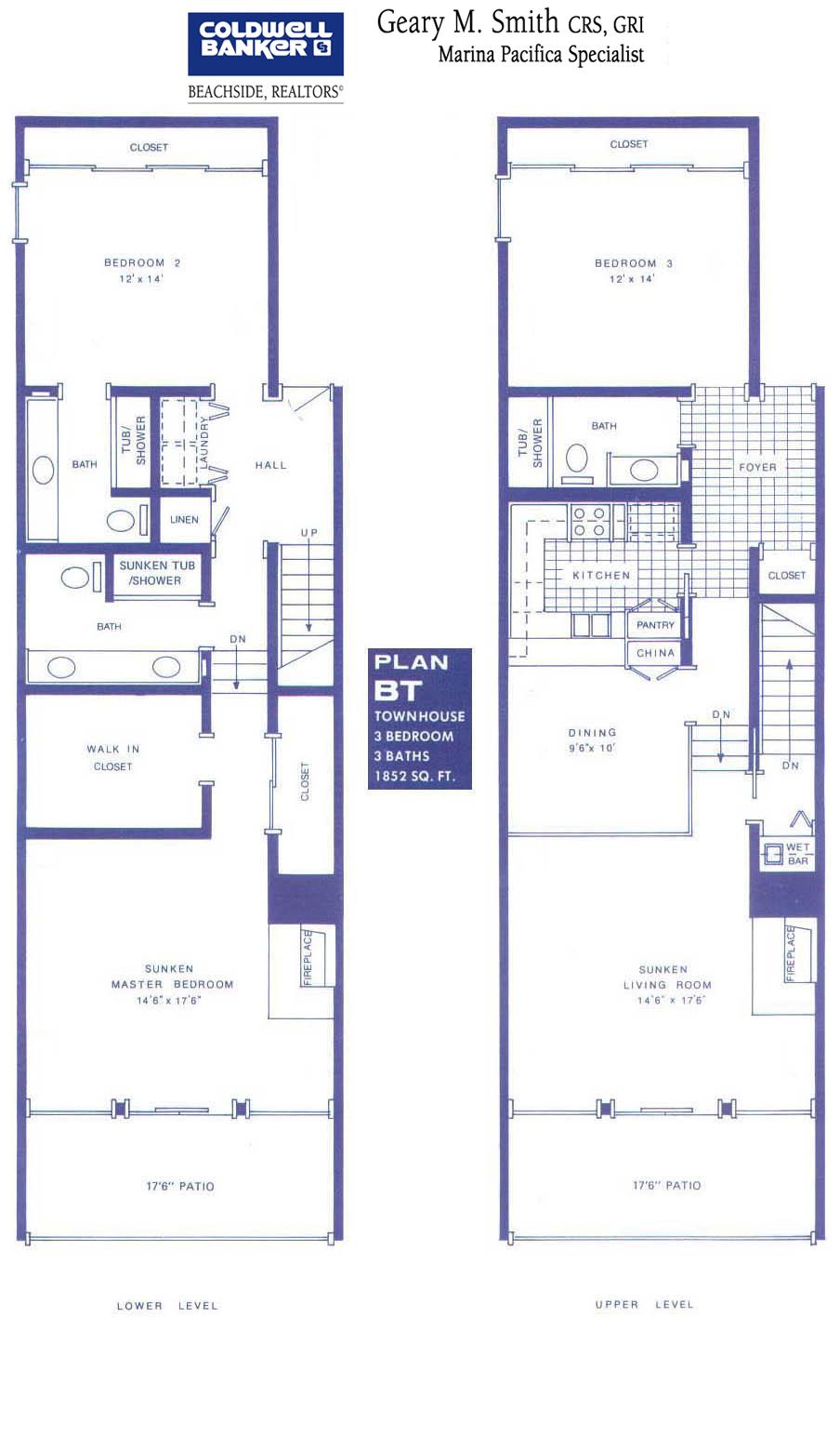 Floor Plans Marina Pacifica